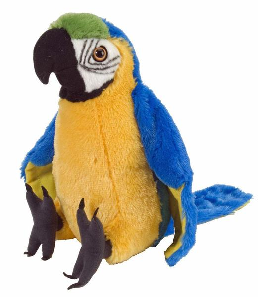 Macaw parrot blue yellow soft toy plush toy stuffed animal 8 quot 20cm new