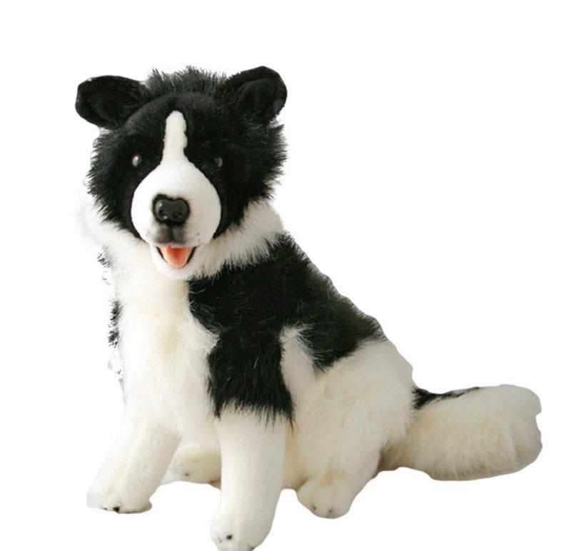 Border Collie Sitting Stuffed Animal Toy Tommy Bocchetta