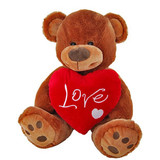 Valentines Teddy Bear Extra Large Love Cushion - Dimples