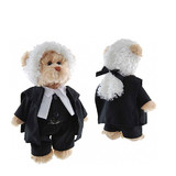Lawyer Teddy Bear with Wig  Plush Toy Tic Toc Teddies