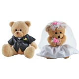 Bride and Groom Teddy Bears Wedding - Elka