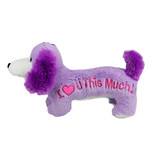 Dachshund 'I love you this much' PURPLE