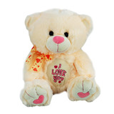 'I Love You' Teddy Bear Pink by Korimco