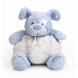 Dog Rattle soft plush Blue baby safe toy by Nat & Jules