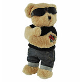 "Tattoo ""True Love"" Teddy Bear - Tic Toc Teddies"