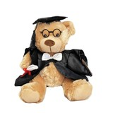 Graduation teddy Bear with glasses soft plush toy