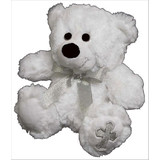 Teddy Bear WHITE with CROSS on Foot WHITE soft plush toy