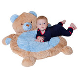 Bear Blue Baby Play Mat by Fuzzy Factory