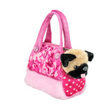 Pug Dog in Pink Camo Bag Fancy Pals