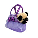 Pug Dog in Purple Frill Bag Fancy Pals