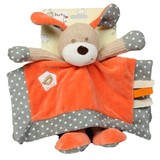 Dog Comforter Blankie DARCY with rattle soft plush baby safe toy