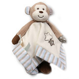 Monkey Comforter Blankie MAX with rattle baby safe toy