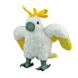 Sulphur-Crested Cockatoo Posed In Flight Plush Toy
