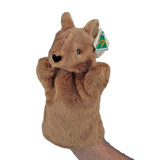KANGAROO HAND PUPPET - AUSTRALIAN MADE soft plush toy