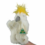 AUSTRALIAN MADE Cockatoo hand puppet plush toy