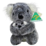 Australian Made Koala with Joey plush stuffed toy