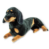 Dachshund /Sausage dog lying soft plush toy - Baccardi