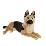 German Shepherd extra large lying plush toy dog - Caesar