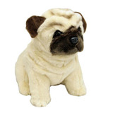 Pug Dog sitting soft plush toy -  Carlotta- Bocchetta Plush