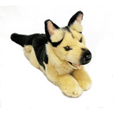 German Shepherd lying plush toy dog - Chief