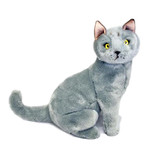 Russian Blue Cat / Kitten soft plush toy - Greyson
