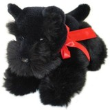 Scottish Terrier Black soft plush toy - Haggis by Bocchetta