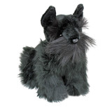 Scottish Terrier Black sitting soft toy Hamish by Bocchetta