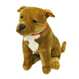 Staffy Staffordshire Bull Terrier (brown) soft plush toy - Lester