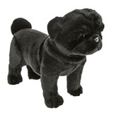 Black Pug Dog Pug standing soft plush toy - Midnight- Bocchetta Plush