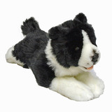 Border Collie lying soft plush toy - Patch