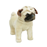 Pug Dog standing soft plush toy - Pugley- Bocchetta Plush