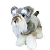 Schnauzer Dog standing soft plush toy - Sherlock by Bocchetta