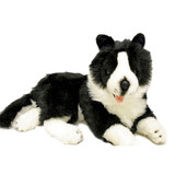 Border Collie lying Soft Plush toy - Starsky by Bocchetta