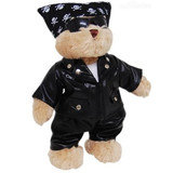 Biker Bikie Spike Teddy Bear - Tic Toc Teddies