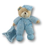 Teddy Bear in Pyjamas With Rattle Blue - Huggable