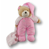 Teddy Bear In Pyjamas With Rattle Pink - Huggable
