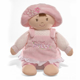 My First Dolly Brunette soft toy rag doll by Baby GUND