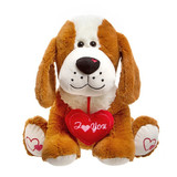 "Puppy Dog Large With ""I Love You"" Cushion Gizmo"