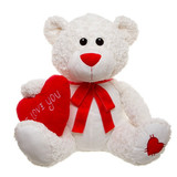 Teddy Bear With Heart Romeo Extra Large White
