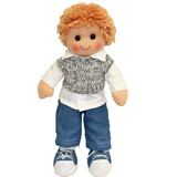 Rag Doll HARRY Boy denim jeans soft doll toy by Hopscotch