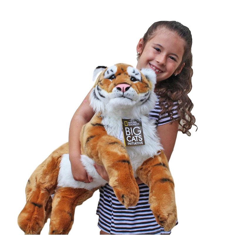 Tiger Bengal Stuffed Animal Plush Toy Extra Large National Geographic