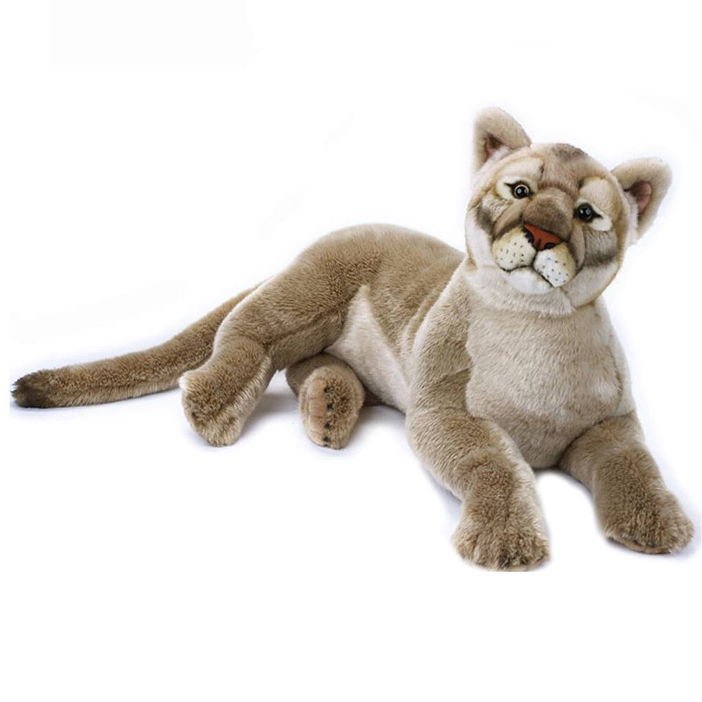 mountain lion stuffed animal extra large 25 65cm national geographic plush new 8004332708223 ebay. Black Bedroom Furniture Sets. Home Design Ideas