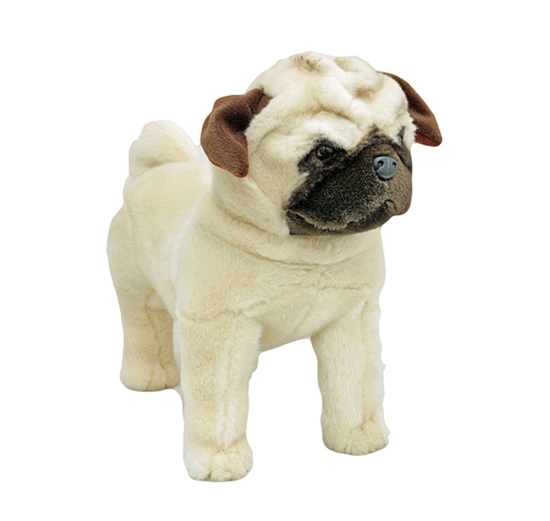 stuffed animal pug pug dog standing stuffed animal pugley 16 quot 40cm soft plush 4337