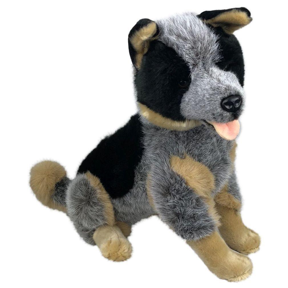 """Cattle Dog Blue Heeler Large Soft Plush Toy 18"""" New"""