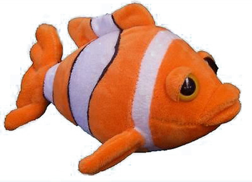 Clown fish soft plush toy 9 23cm aquatic stuffed animal for Fish stuffed animal
