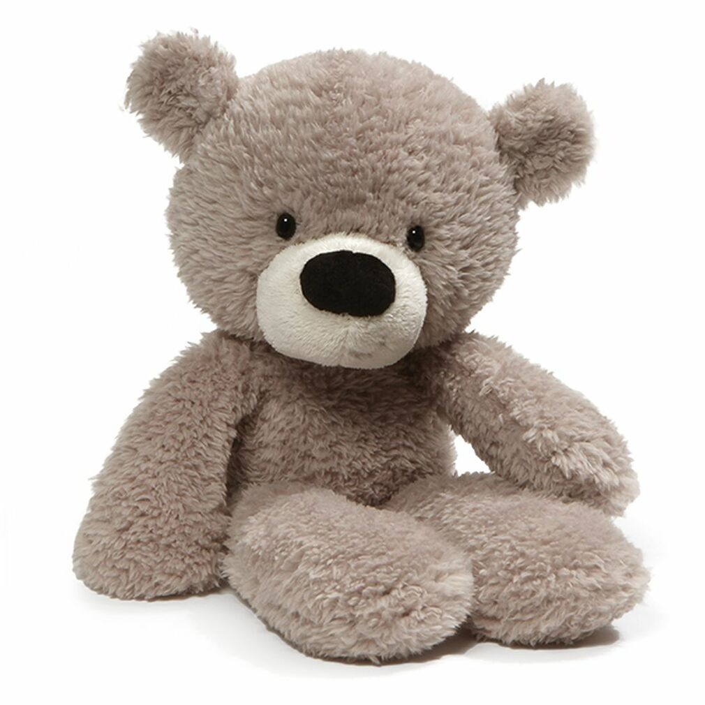 d59ca8ae159 Fuzzy Grey Teddy Bear - Gund