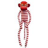 Coco Red and White Stripe Sock Monkey