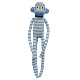 Jordan Blue and White Stripe Sock Monkey
