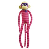 Nuria Pink Stripe Sock Monkey