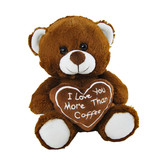 """I Love You More Than Coffee"" Teddy Bear - Elka"